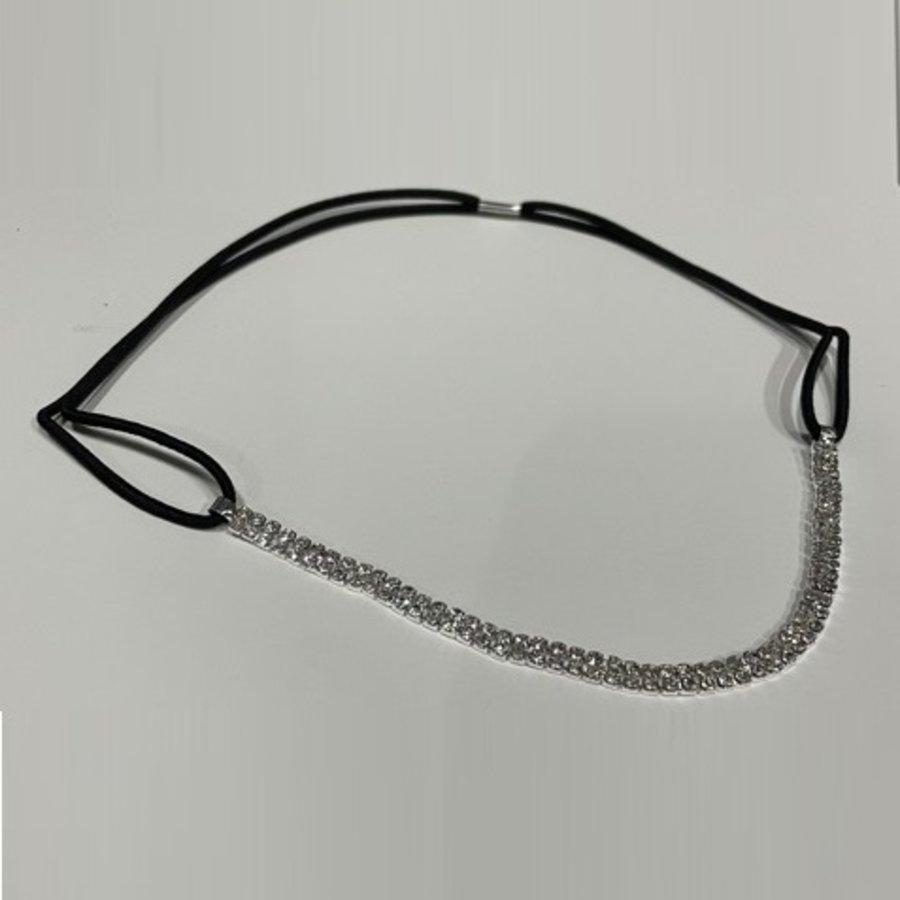 PaCaZa - Haar Sieraad / Haarband Zilverkleurig met Strass Steentjes-2