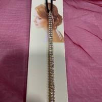 thumb-PaCaZa - Haar Sieraad / Haarband Goudkleurig met Strass Steentjes-6
