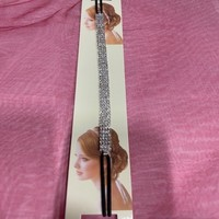 thumb-PaCaZa - Haarband / Haar Sieraad Zilverkleurig met Strass Steentjes-3