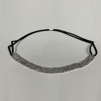 thumb-PaCaZa - Haarband / Haar Sieraad Zilverkleurig met Strass Steentjes-2