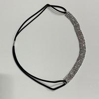thumb-PaCaZa - Haarband / Haar Sieraad Zilverkleurig met Strass Steentjes-4