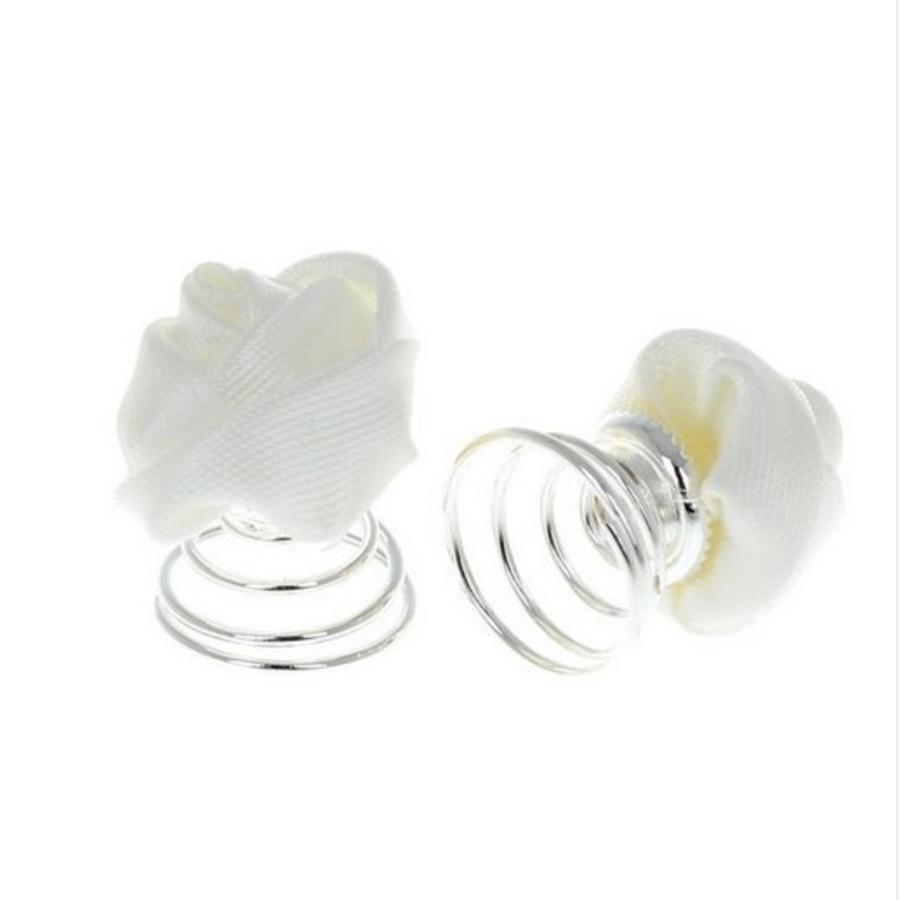 PaCaZa - Prachtige Witte Roosjes Curlies - 6 stuks-8