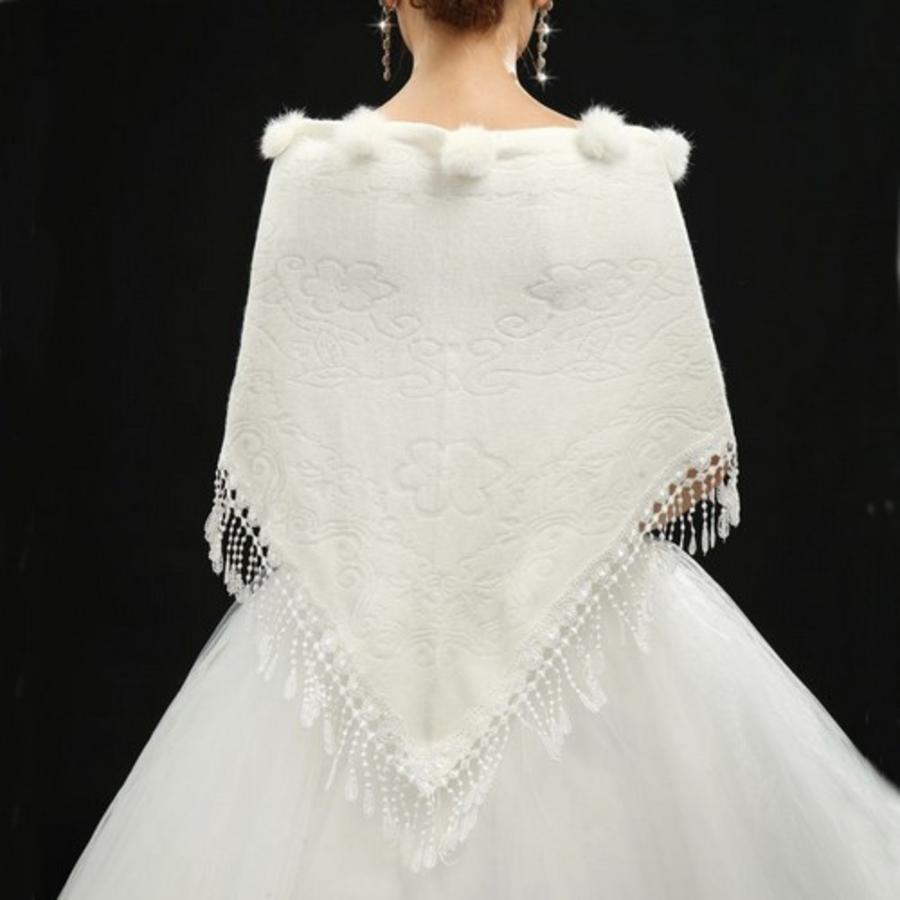 Prachtige Ivoorkleurige Sjaal-2