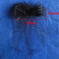 thumb-Stijlvolle birdcage veil / sluier / fascinator van french netting - Zwart-3
