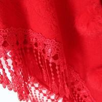 thumb-Prachtige Rode Sjaal-6