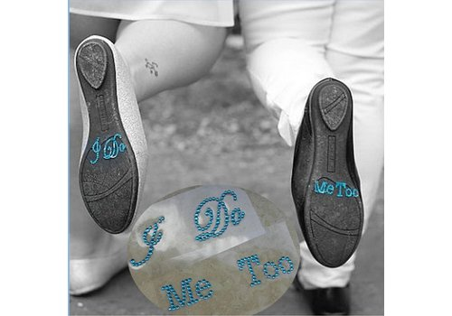 'I DO' & 'ME TOO' Setje -Aqua Blauw