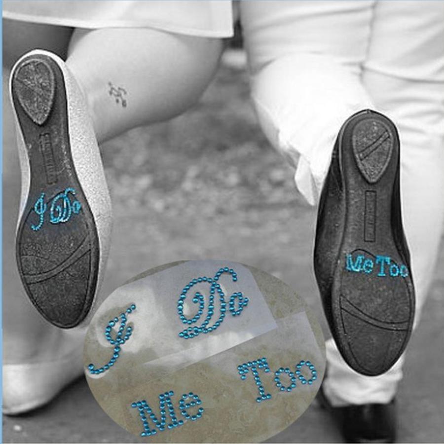 'I DO' & 'ME TOO' Setje -Aqua Blauw-1