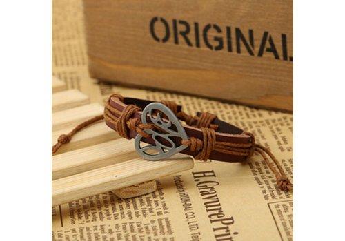 Armband Hart - Bruin
