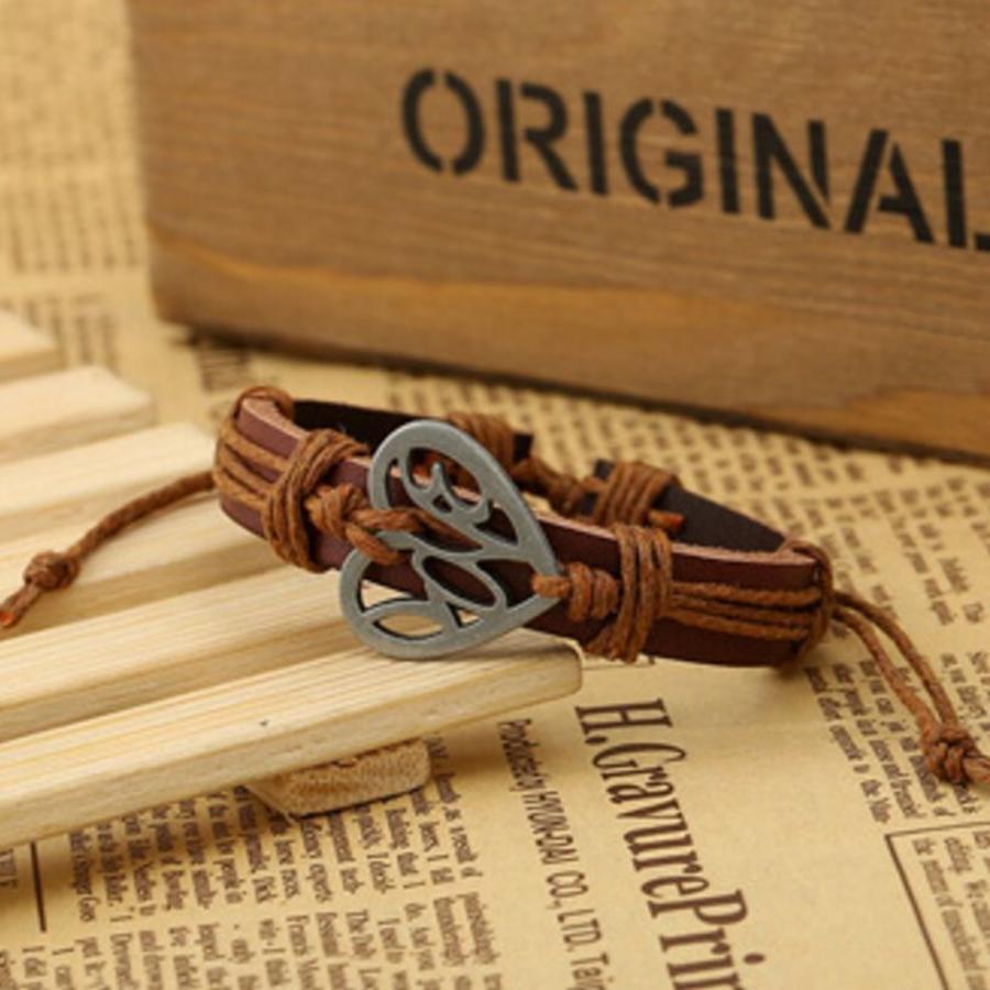 Armband Hart - Bruin-1