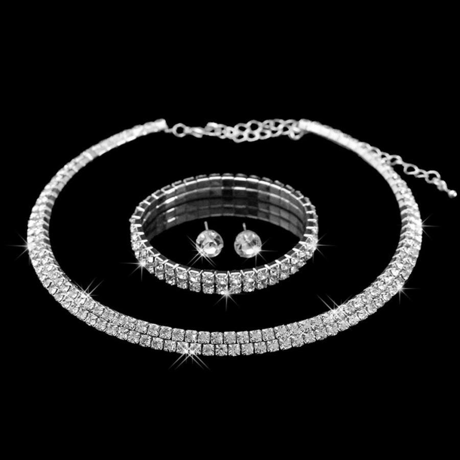 Sieradenset Glitter (Ketting & Oorbellen)-5