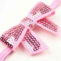 thumb-Haarband Strik - Licht Roze-3