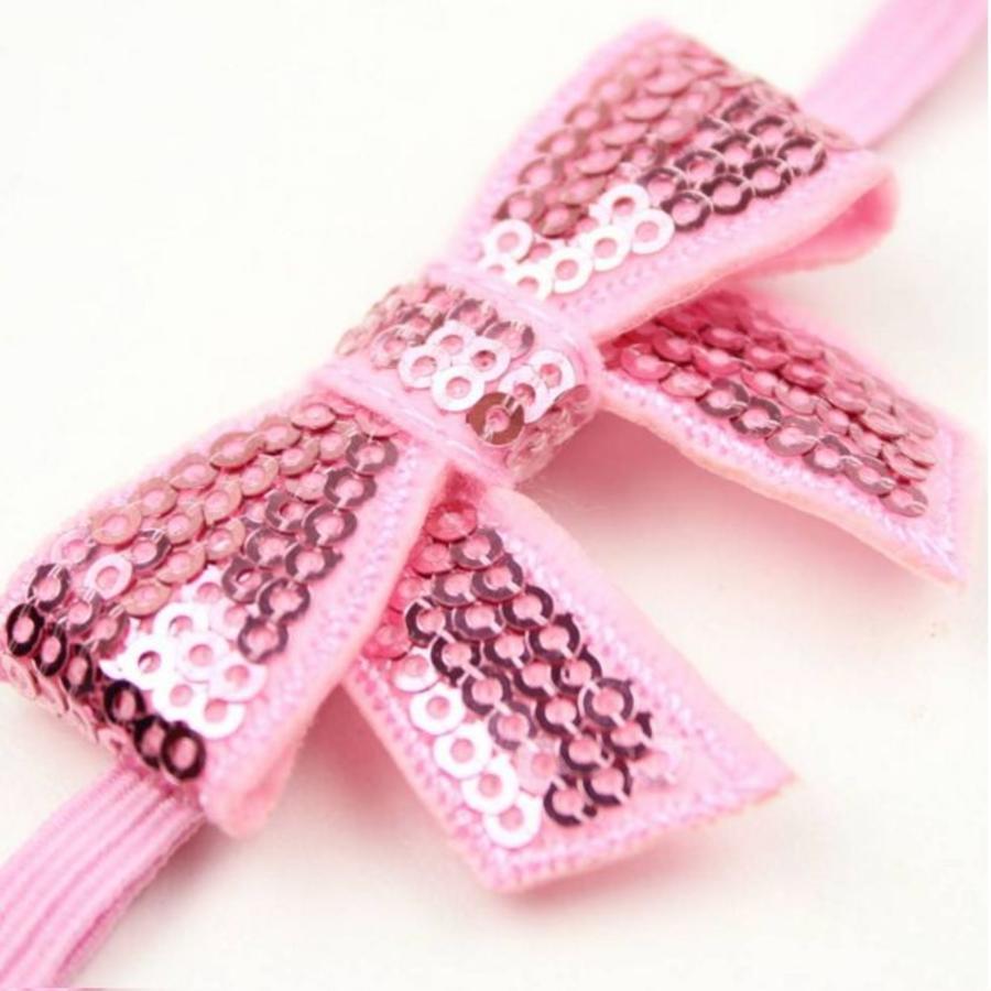 Haarband Strik - Licht Roze-3