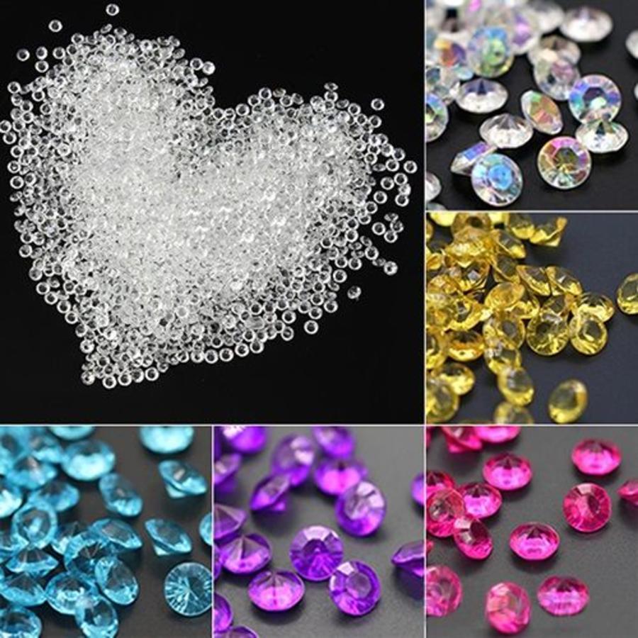Decoratie Steentjes - Diamantjes - Licht Roze - 1000 stuks-4