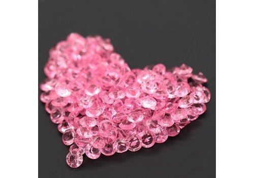 Decoratie Steentjes - Diamantjes - Licht Roze - 1000 stuks