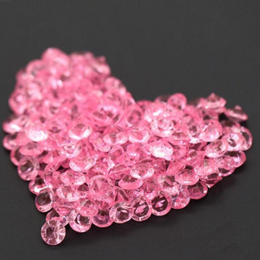 Decoratie Steentjes - Diamantjes - Licht Roze - 1000 stuks-1