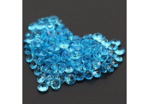 Decoratie Steentjes - Diamantjes - Aqua Blauw - 1000 stuks