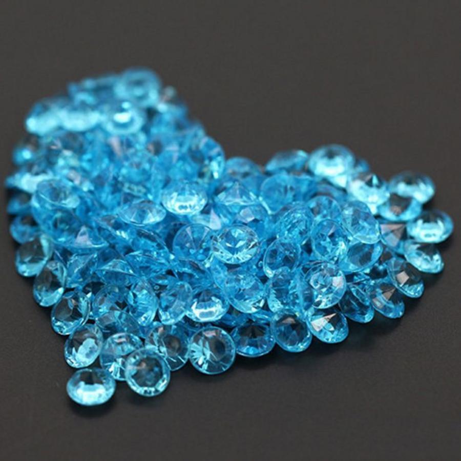 Decoratie Steentjes - Diamantjes - Aqua Blauw - 1000 stuks-1