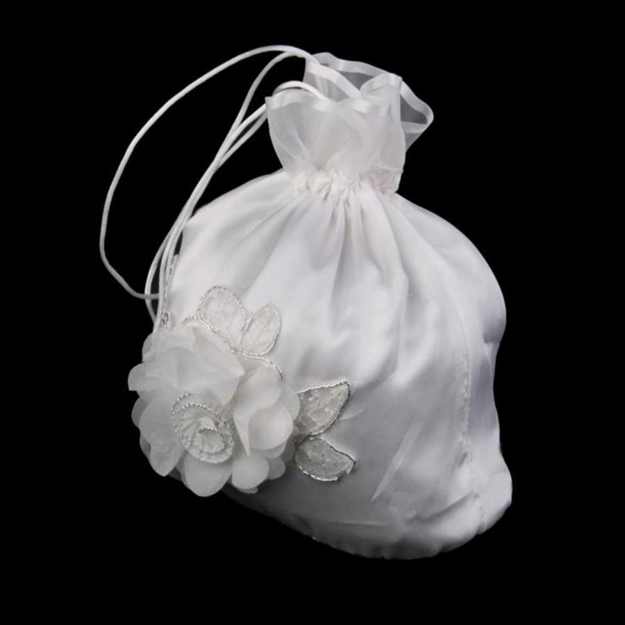 Bruidstasje Bloem - Ivoor-3