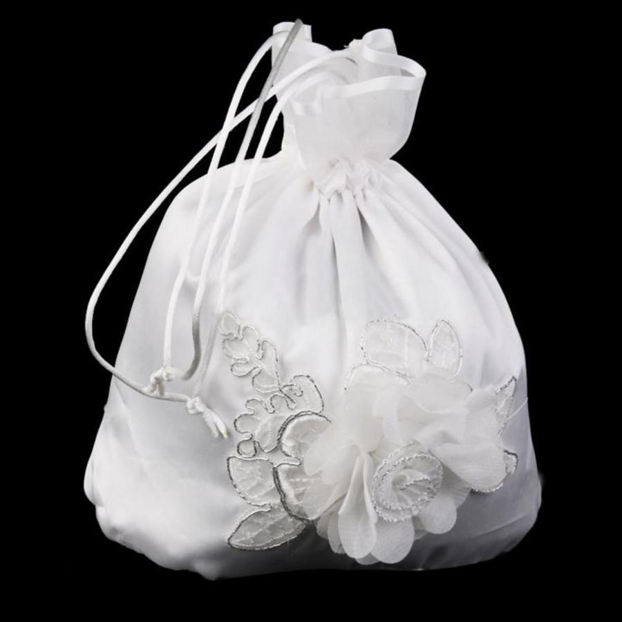 Bruidstasje Bloem - Ivoor-4