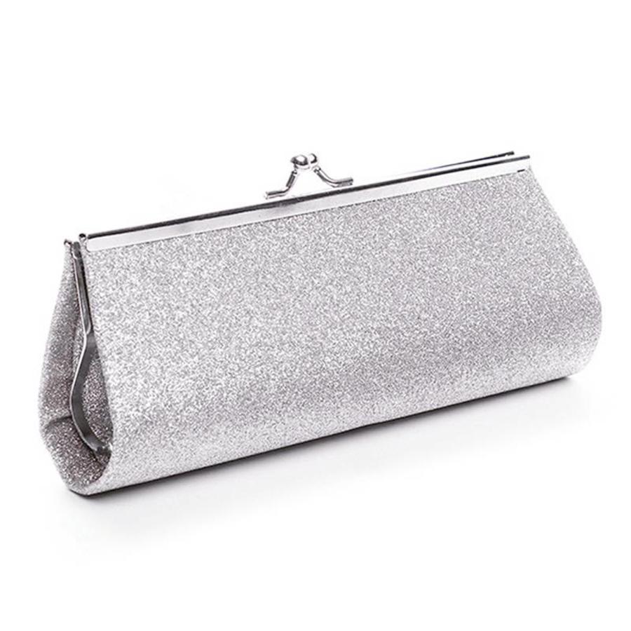 Bruidstasje Glimmend Zilver - Clutch-2