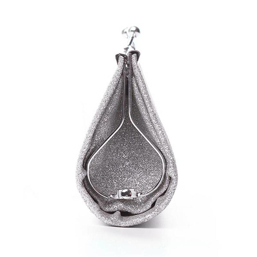 Bruidstasje Glimmend Zilver - Clutch-3