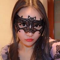 thumb-Party Masker -Vleermuis - Zwart - 005-2