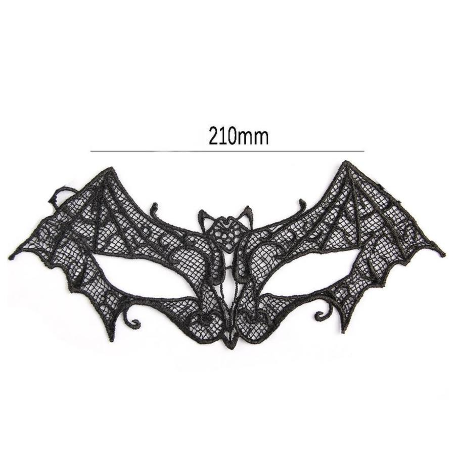 PaCaZa - Party Masker -Vleermuis - Zwart - 005-3