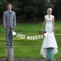 thumb-Just Married Slinger -  Bruiloft Decoratie-3