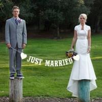 thumb-PaCaZa - Just Married Slinger - Bruiloft Decoratie-3
