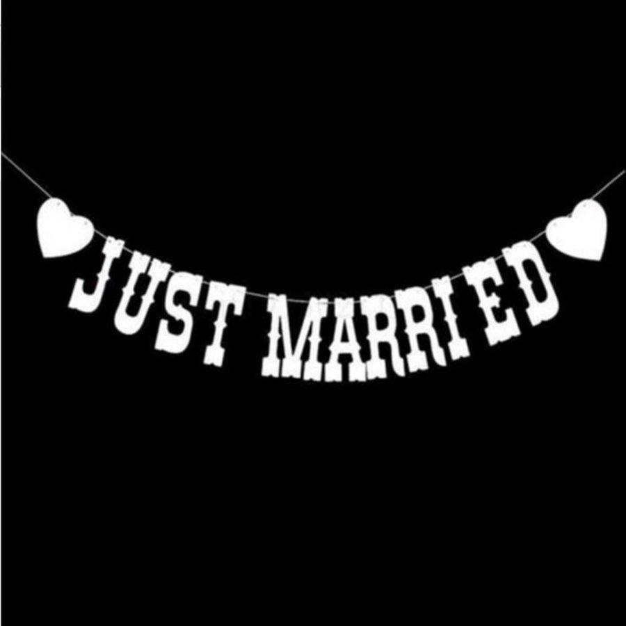 Just Married Slinger -  Bruiloft Decoratie-1