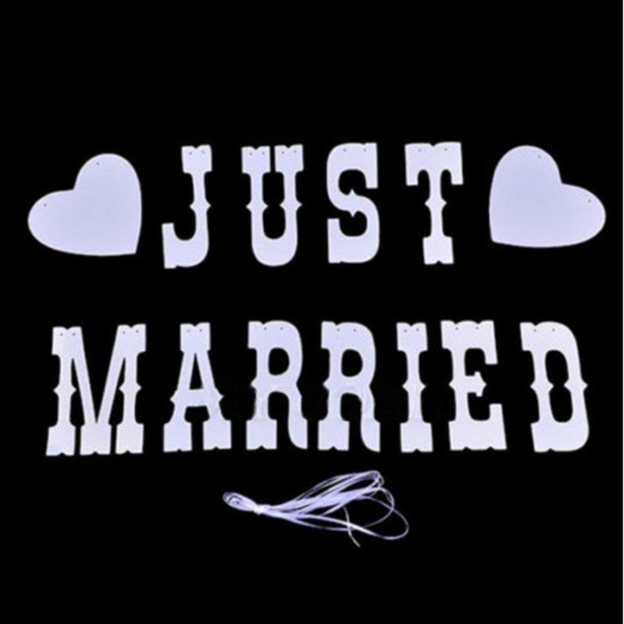 Just Married Slinger -  Bruiloft Decoratie-2