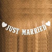 thumb-Just Married Slinger -  Bruiloft Decoratie-6