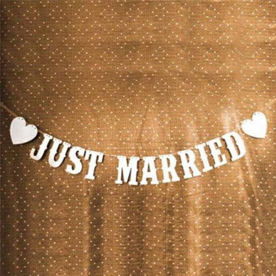 Just Married Slinger -  Bruiloft Decoratie-6