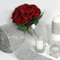 thumb-PaCaZa - Diamanten 'Lint' - 90 cm - Zilver - Bruiloft Decoratie - DIY-1
