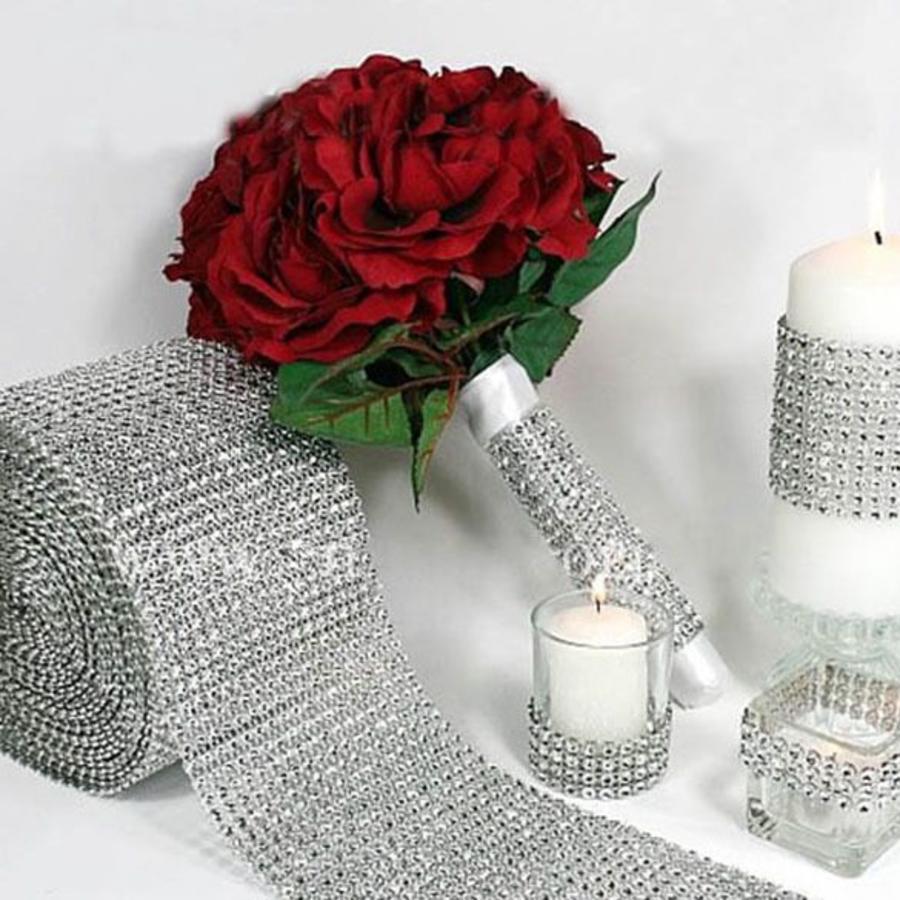 Diamanten 'Lint' - 90 cm. - Zilver -  Bruiloft Decoratie - DIY-1