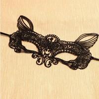 thumb-Party Masker - Kat -  Zwart - 002-5