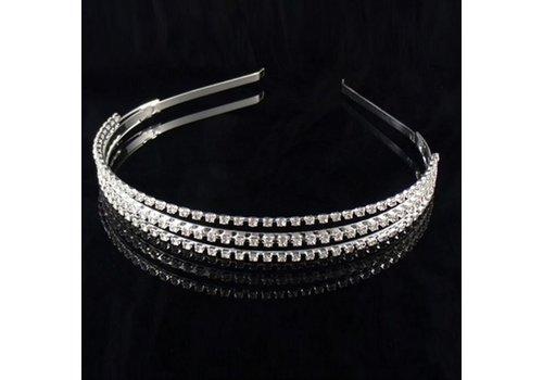3-laags Tiara / Diadeem met Fonkelende Kristallen