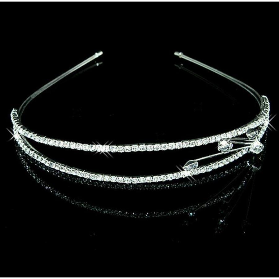 SALE - Chique 2-laags Tiara / Diadeem met Fonkelende Kristallen-1