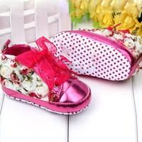 thumb-Bloemen Sneakers - Roze - 12 tot 18 maanden-1