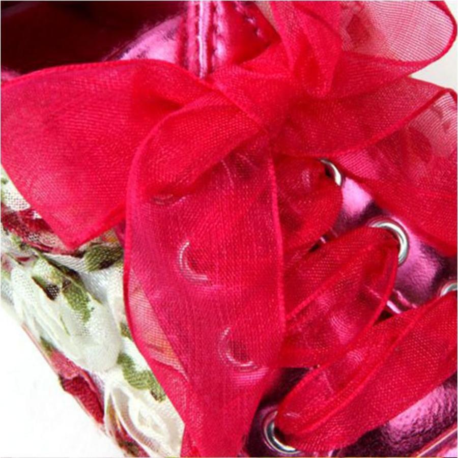 Bloemen Sneakers - Roze - 12 tot 18 maanden-4