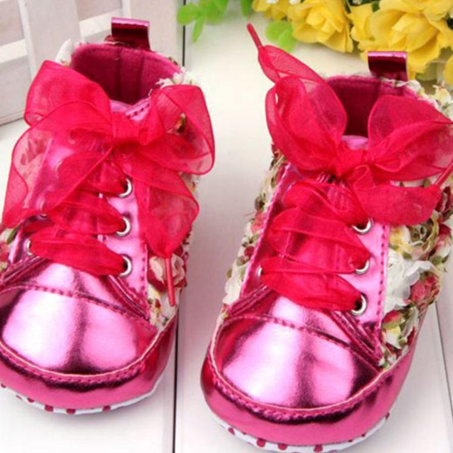 Bloemen Sneakers - Roze - 12 tot 18 maanden-3