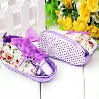 thumb-Bloemen Sneakers - Paars / Lila - 011-1