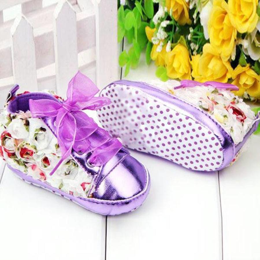 PaCaZa - Bloemen Sneakers - Paars / Lila - 011-1