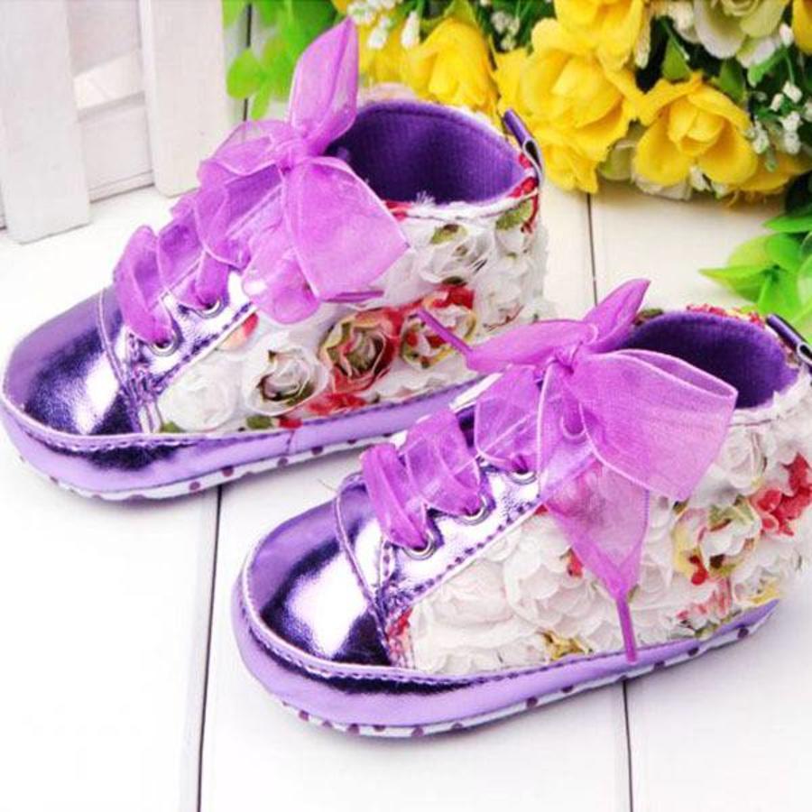 PaCaZa - Bloemen Sneakers - Paars / Lila - 011-2
