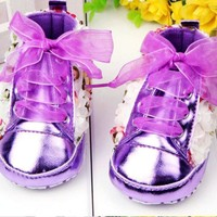 thumb-PaCaZa - Bloemen Sneakers - Paars / Lila - 011-3