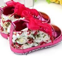 thumb-Bloemen Sneakers - Roze - 12 tot 18 maanden-2
