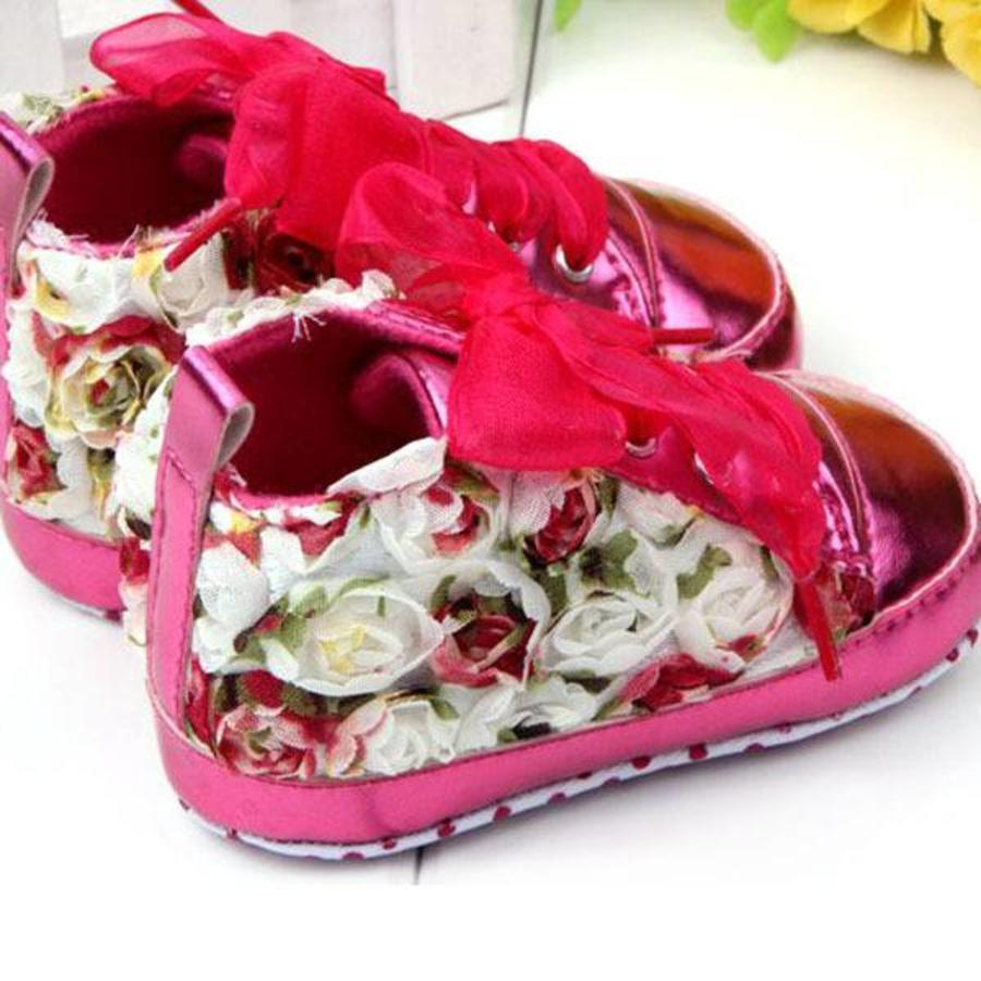 Bloemen Sneakers - Roze - 12 tot 18 maanden-2