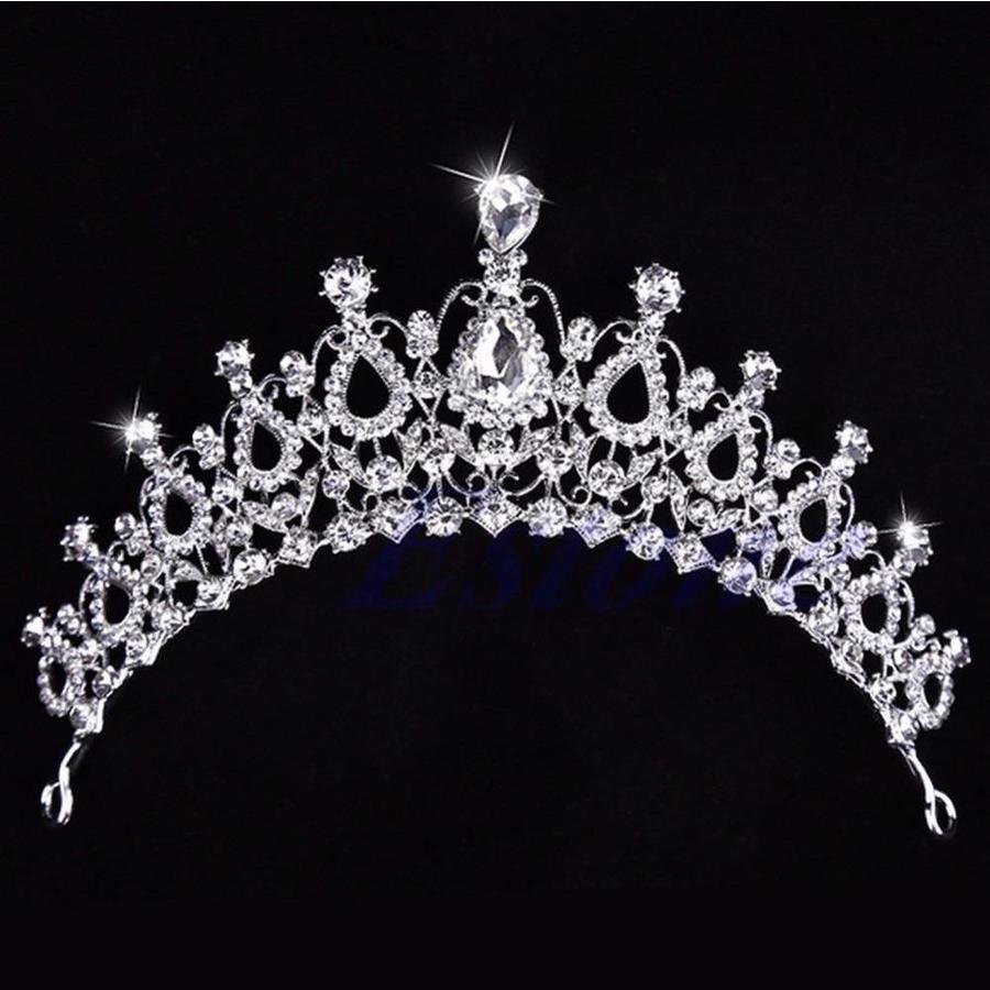 Fonkelende Kristallen Tiara / Kroon-4