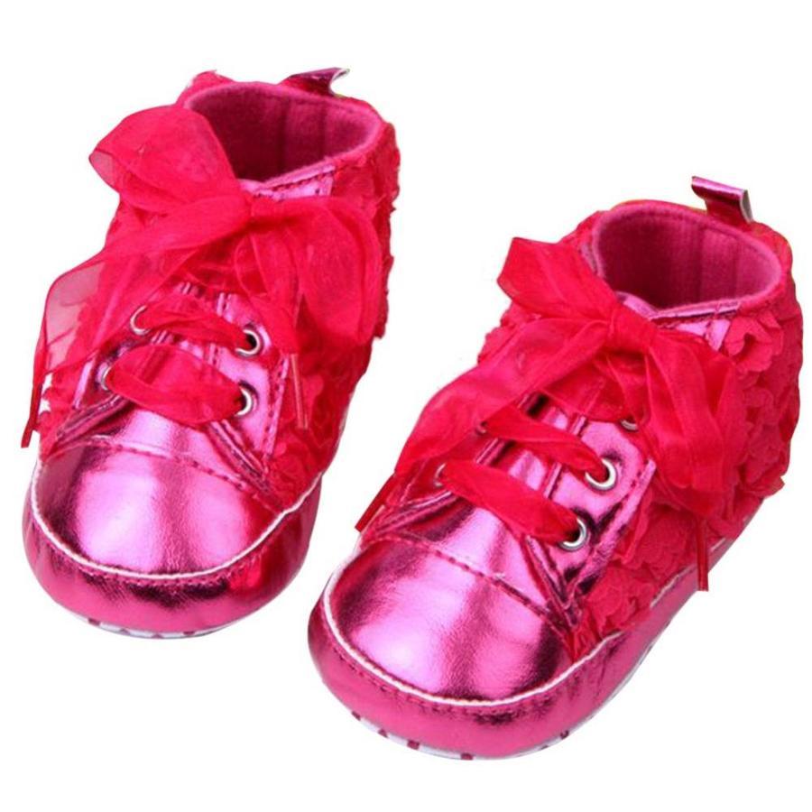 Roze Sneakers met Bloemetjes - 015-3