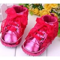 thumb-Roze Sneakers met Bloemetjes - 015-2